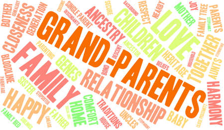 Parents word cloud on a white background. Stock Vector - 70321540