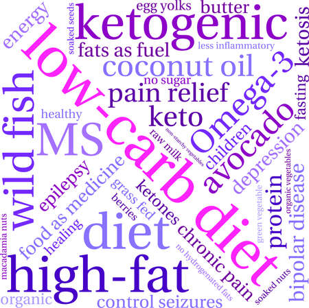 starchy food: Low Carb word cloud on a white background.