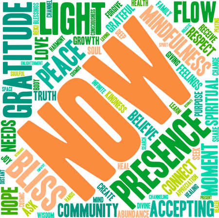 spiritual growth: Now word cloud on a white background.