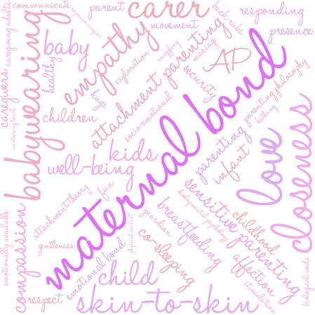 responsive: Maternal Bond word cloud on a white background.