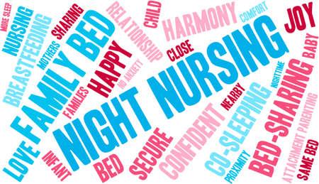 developmental: Night Nursing word cloud on a white background.