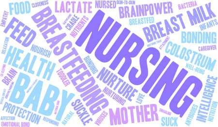 Nursing word cloud on a white background.