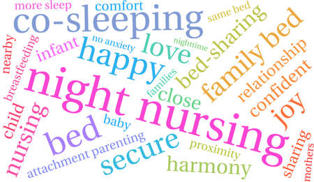 Night Nursing word cloud on a white background.