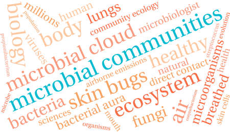 Microbial Communities word cloud on a white background. Stock Vector - 70322838