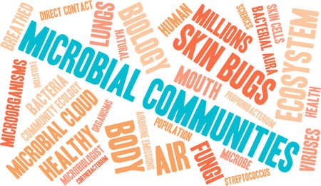Microbial Communities word cloud on a white background. Stock Vector - 70322755