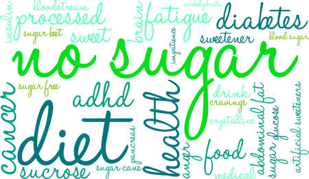 No sugar word cloud on a white background. Reklamní fotografie - 70322705