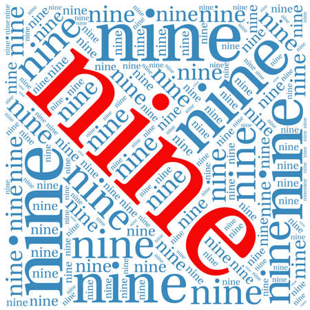Nine word cloud on a white background.