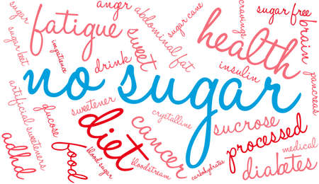No sugar word cloud on a white background.