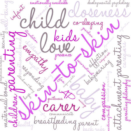 maternal: Skin-To-Skin word cloud on a white background.
