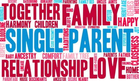 Single Parent word cloud on a white background. Stock Vector - 70391521