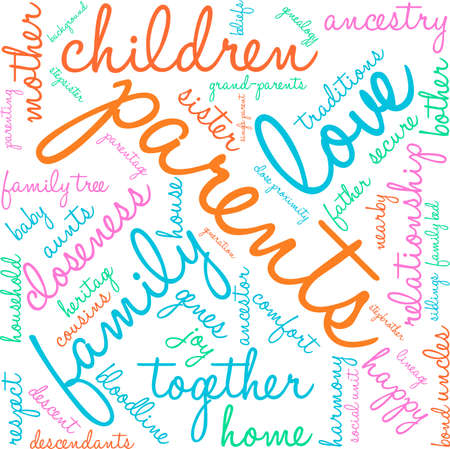baby grand: Parents word cloud on a white background.