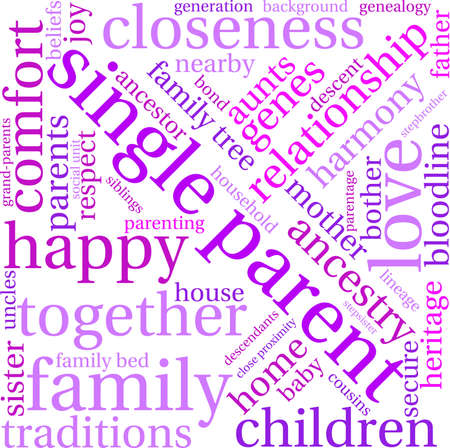 baby grand: Single Parent word cloud on a white background.