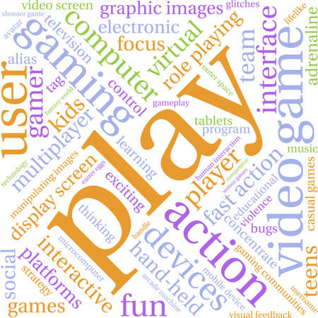 Play word cloud on a white background.