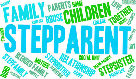 Stepparent word cloud on a white background. Stock Vector - 70869435