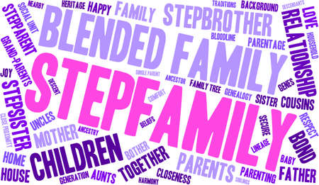 palabra nueva familia coud sobre un fondo blanco.