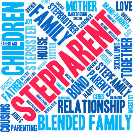 Stepparent word cloud on a white background. Stock Vector - 70869481