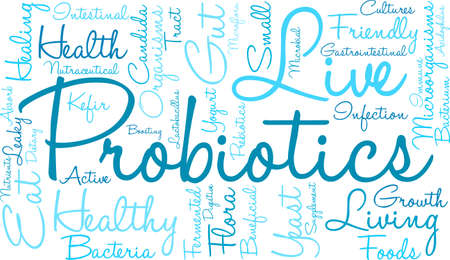 Probiotics word cloud on a white background. Stock fotó - 70868809
