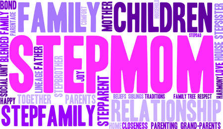 baby grand: Stepmom word cloud on a white background.