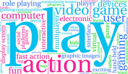 username: Play word cloud on a white background.