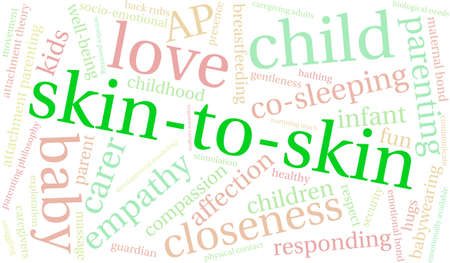 responsive: Skin-To-Skin word cloud on a white background.