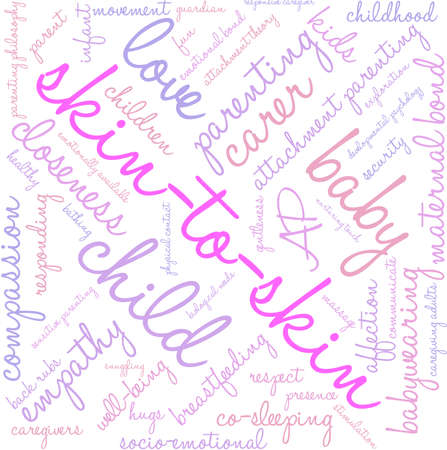 caregivers: Skin-To-Skin word cloud on a white background.