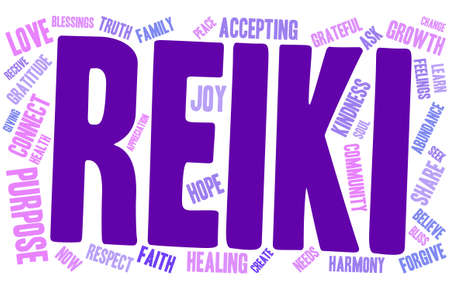 blessings: Reiki word cloud on a white background.