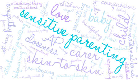 maternal: Sensitive Parenting word cloud on a white background.