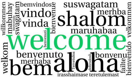 International Welcome Word Cloud. Each word used in this word cloud is another languages version of the word Welcome.