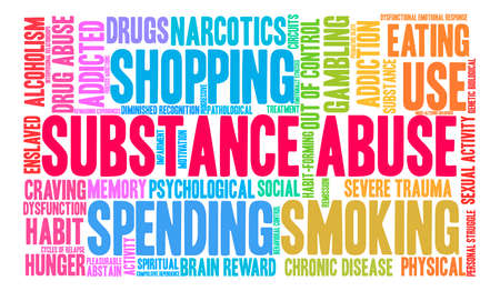 Substance Abuse word cloud on a white background. Stock Vector - 71609233