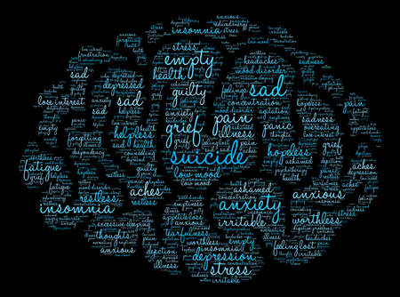 Suicide word cloud on a white background. Фото со стока - 71612047