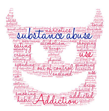 Substance Abuse nuage de mot sur un fond blanc. Banque d'images - 71612048
