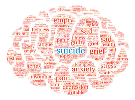 Suicide word cloud on a white background. Фото со стока - 71665992