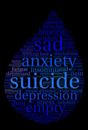Suicide word cloud on a white background. Фото со стока - 71666004