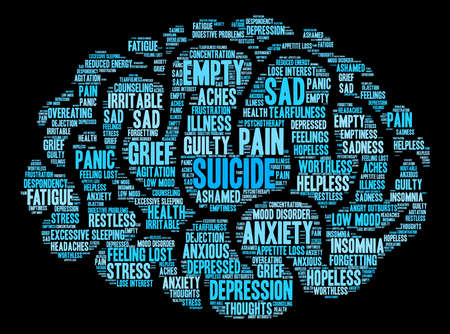 Suicide word cloud on a white background. Фото со стока - 71612207