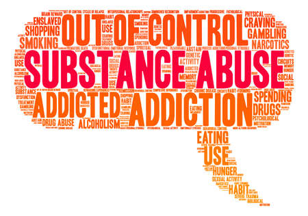 Substance Abuse word cloud on a white background. Stock Vector - 71612230