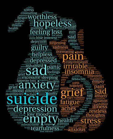 Suicide word cloud on a white background. Фото со стока - 71666263
