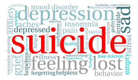 Suicide word cloud on a white background. Фото со стока - 71612303