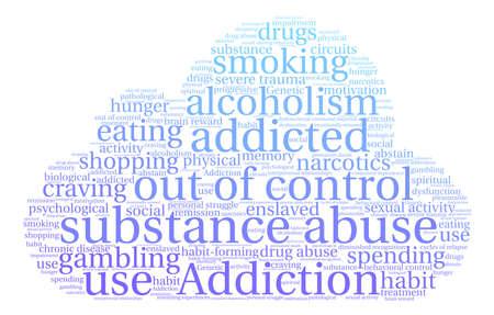 Substance Abuse word cloud on a white background. Reklamní fotografie - 71612317