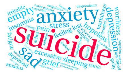 Suicide word cloud on a white background. Фото со стока - 71633897