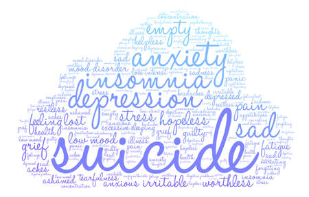 Suicide word cloud on a white background. Фото со стока - 71666119
