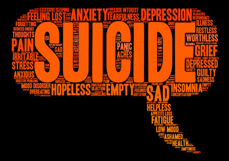 Suicide word cloud on a white background. Фото со стока - 71666397