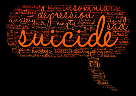 Suicide word cloud on a white background. Фото со стока - 71669858