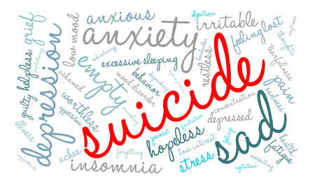 Suicide word cloud on a white background. Фото со стока - 71669859