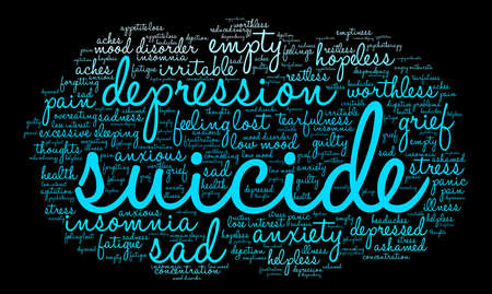 Suicide word cloud on a white background. Фото со стока - 71666521