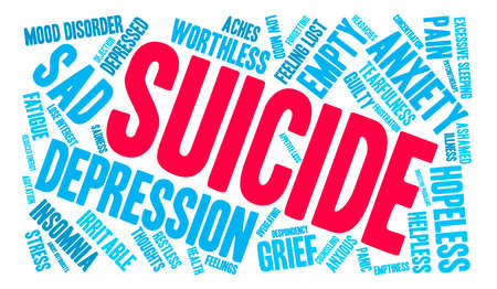 Suicide word cloud on a white background. Фото со стока - 71666400