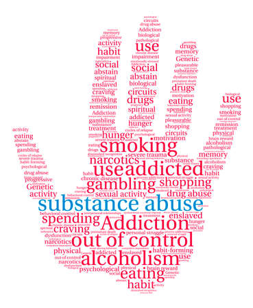 Substance Abuse word cloud on a white background. Stock Vector - 71666926