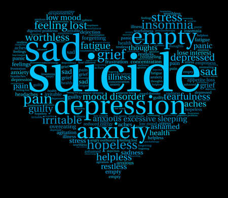 Suicide word cloud on a white background. Фото со стока - 71667138