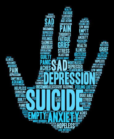 Suicide word cloud on a white background. Фото со стока - 71667141