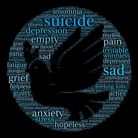 Suicide word cloud on a white background. Фото со стока - 71670395