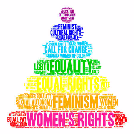 Womens Rights word cloud on a white background. Ilustrace